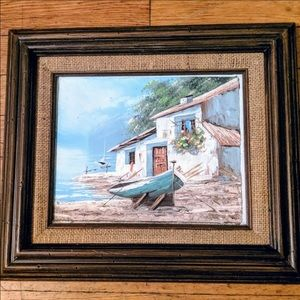 Hand Painted Seaside Boat in Mexico Picture